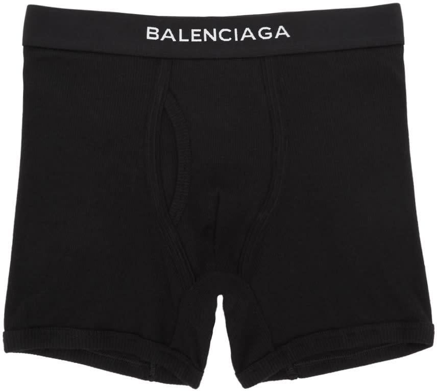 Balenciaga Ensemble De Trois Boxers à Logo Noirs