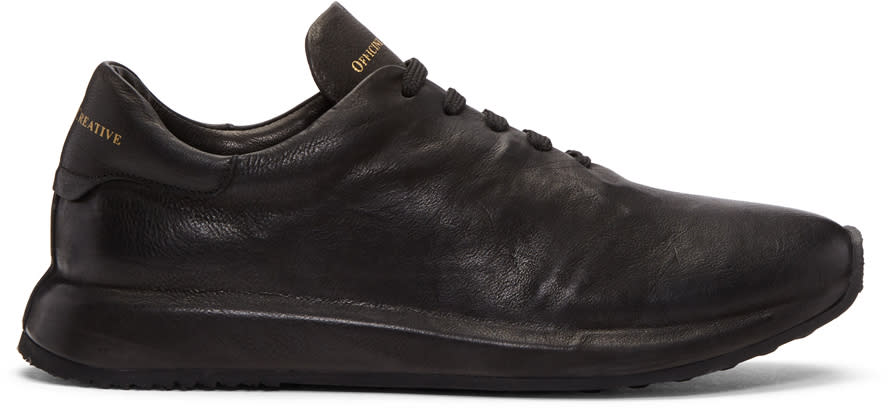 Image of Officine Creative Black Race 1 Sneakers