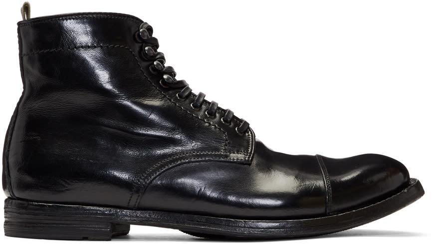 Image of Officine Creative Black Anatomia 16 Boots