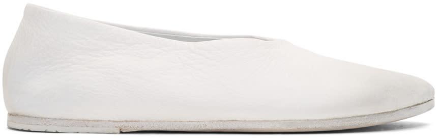 Marsell White Cotellaccio Ballerina Flats