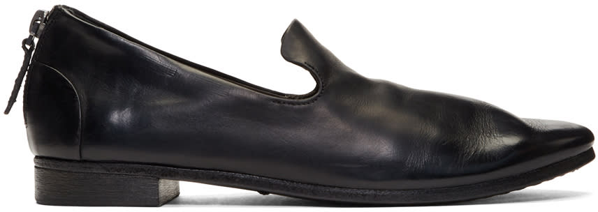 Marsell Black Colteldino Loafers