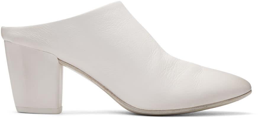 Marsell White Cotello Mules