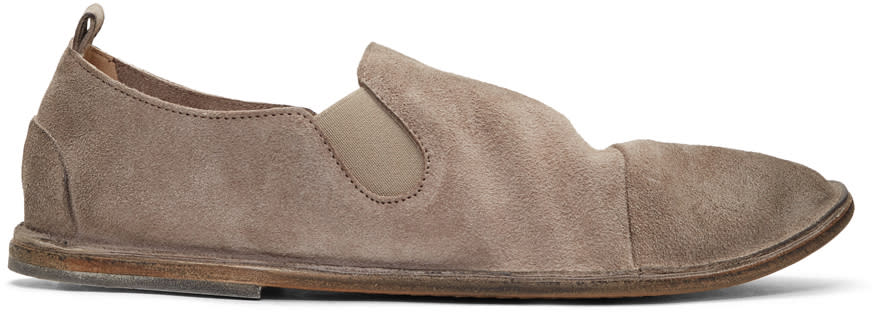 Marsell Beige Suede Strasacco Loafers