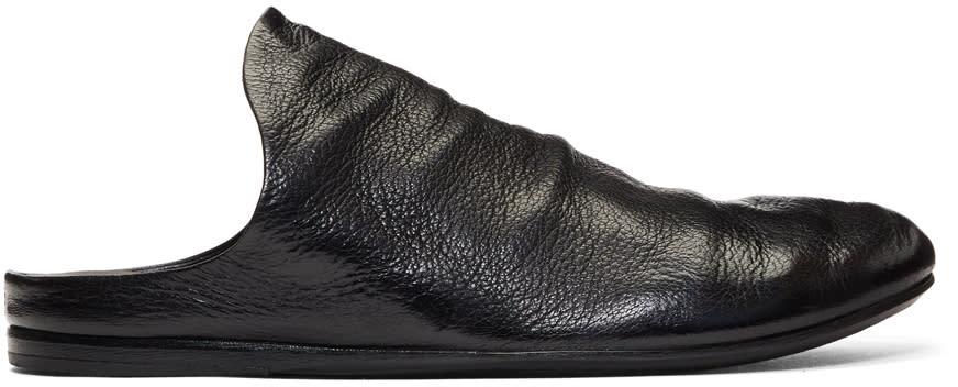 Marsell Black Strapiatta Open Back Loafers