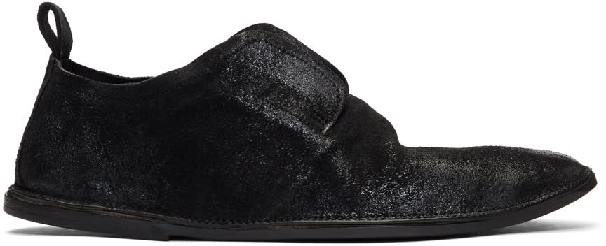 Marsell Black Suede Strasacco Loafers