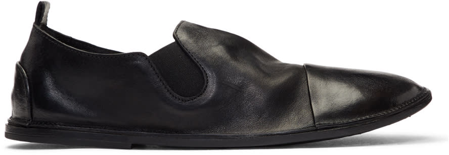 Marsell Black Strasacco Loafers