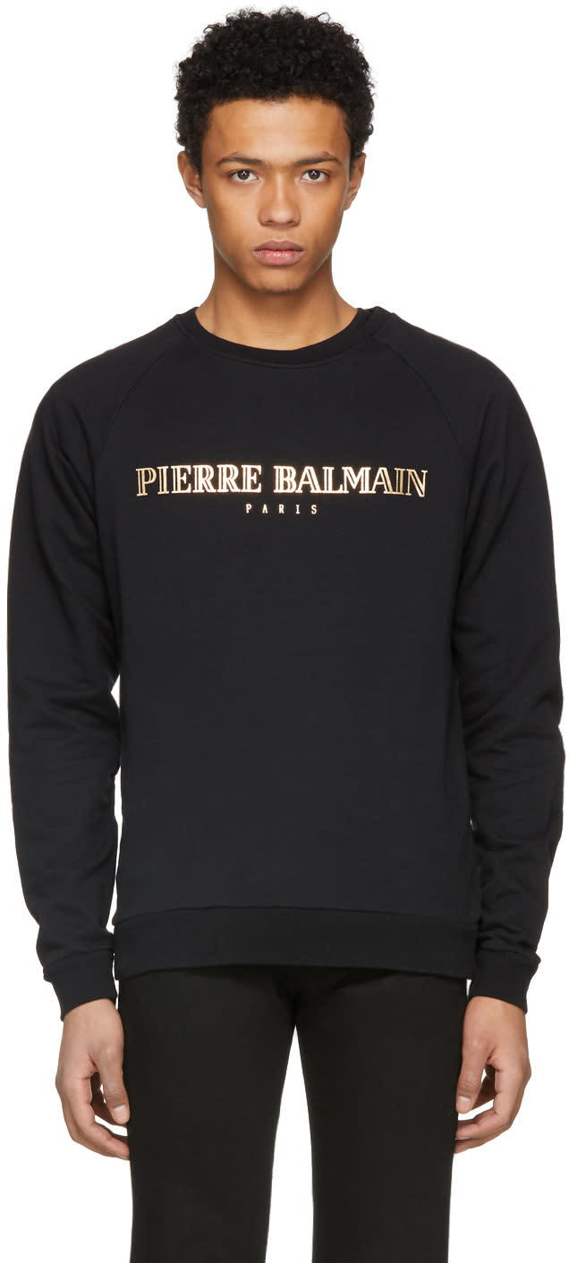 Pierre Balmain Pull Molletonné à Logo Noir