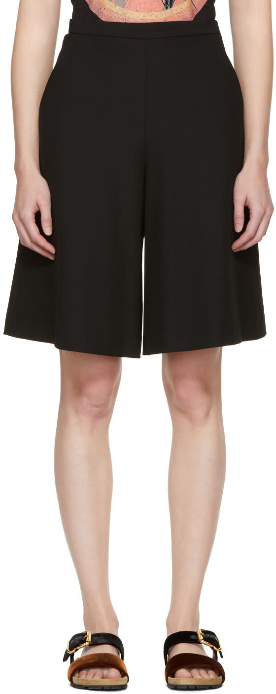 Image of See By Chloé Black Fluid Shorts