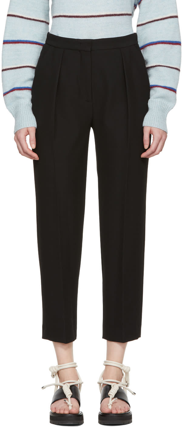 Image of See By Chloé Black Fluid Trousers