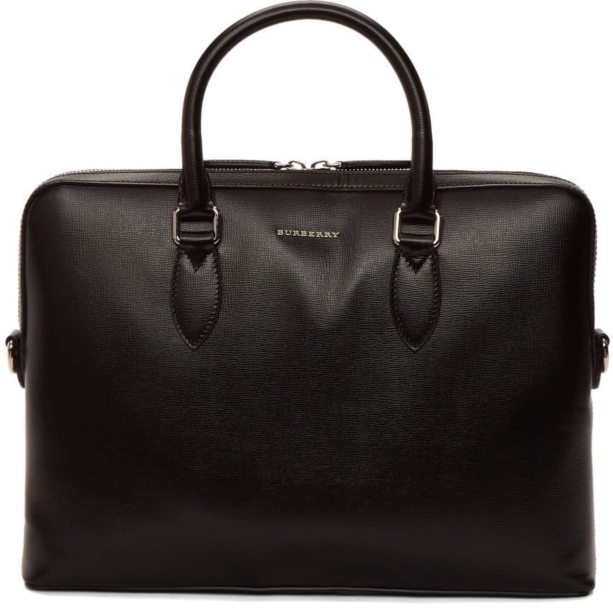 Image of Burberry Black Barrow Briefcase