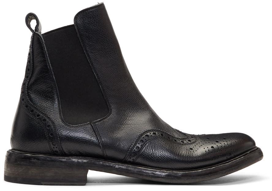 Image of Burberry Black Alvington Chelsea Boots