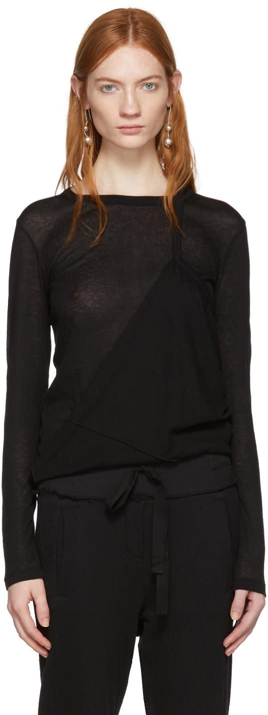 Ann Demeulemeester T-shirt à Manches Longues Noir Shiloh