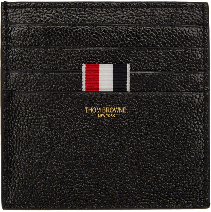 0643b3a4fdc Thom Browne Black Double sided Card Holder