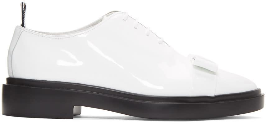 3fa966602c Thom Browne White Wholecut Bow Oxfords