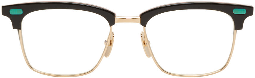 Image of Thom Browne Black and Gold Tb-711 Glasses