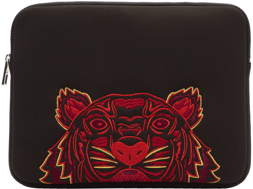 87a639ca Kenzo Black Neoprene Chinese New Year Tiger Laptop Case