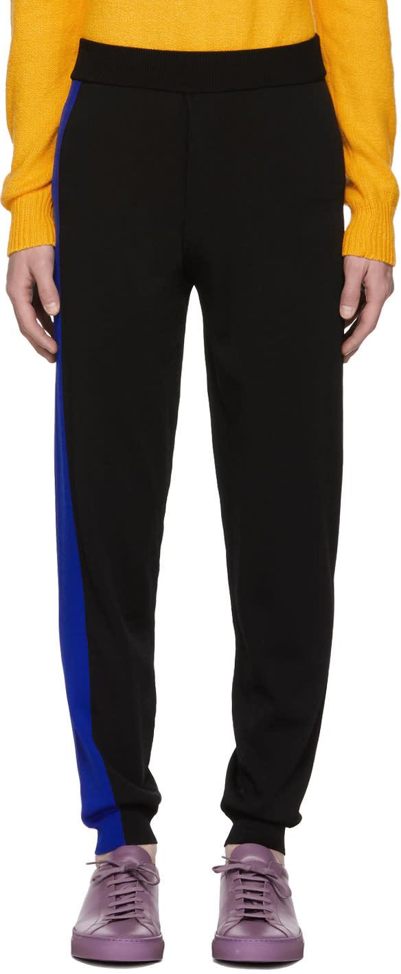 f7aae2762b Kenzo Black and Blue Colorblock Lounge Pants