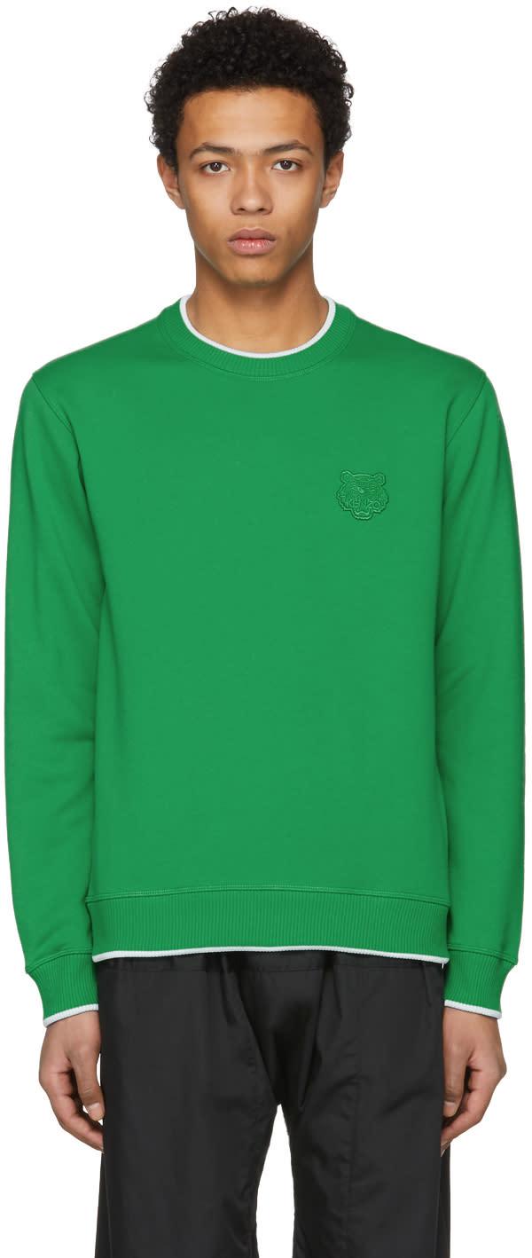 0f370de7 Kenzo Green Tiger Crest Sweatshirt
