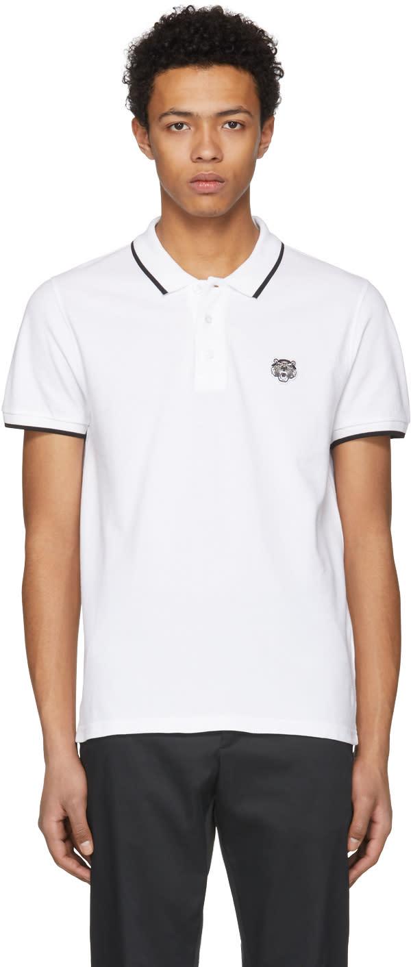 72a8ed7a74 Kenzo White Tiger Crest Polo