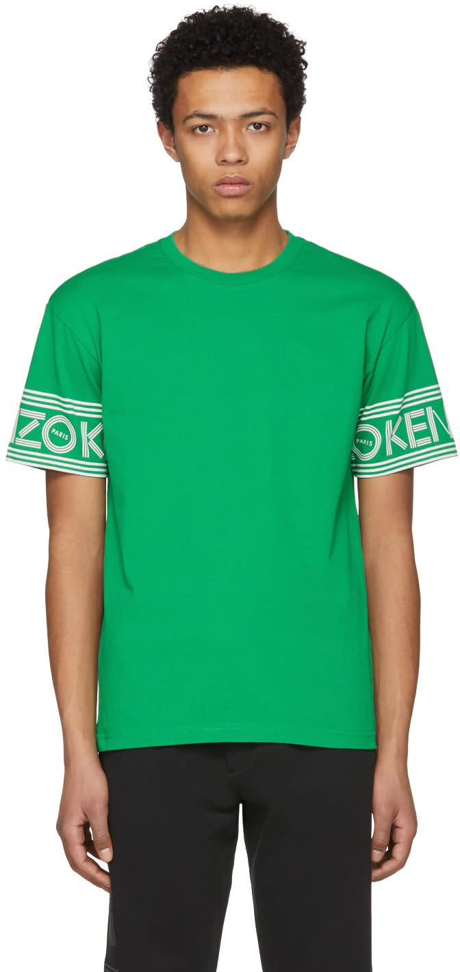 0104303c Kenzo Green Logo Sleeve T shirt