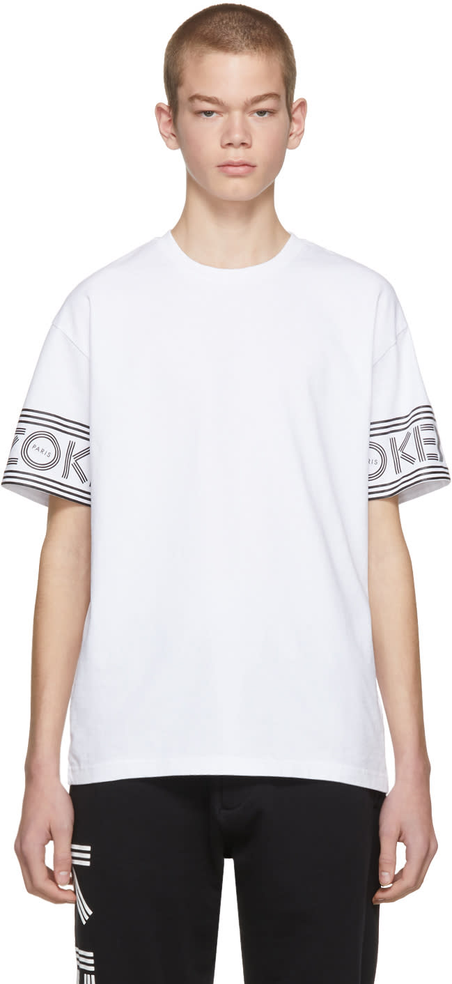 53995035 Kenzo White Logo Sport T shirt