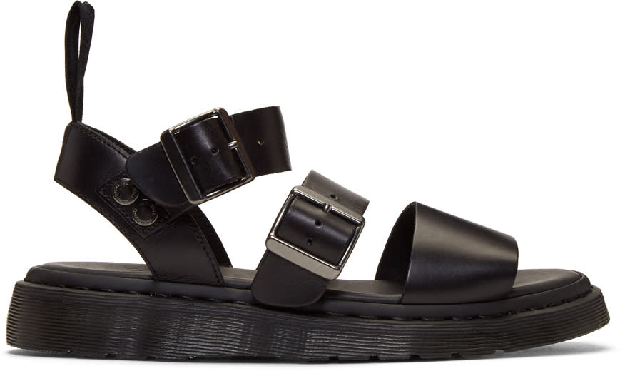 Dr. Martens Black Gryphon Sandals