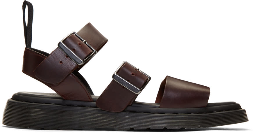 Dr. Martens Black and Brown Charro Gryphon Sandals