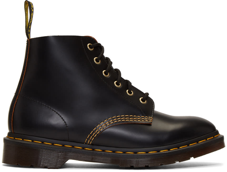 Dr. Martens Black 101 Arc Lace-up Boots