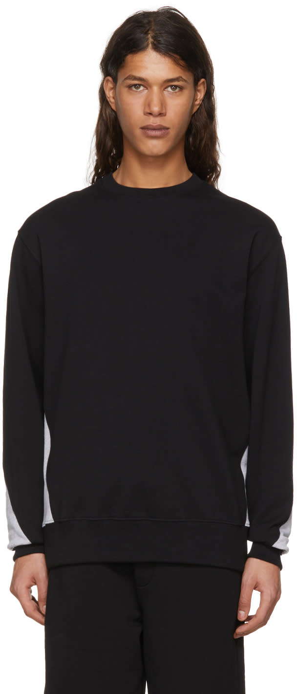 Image of Versus Black and Grey Logo Back Sweatshirt