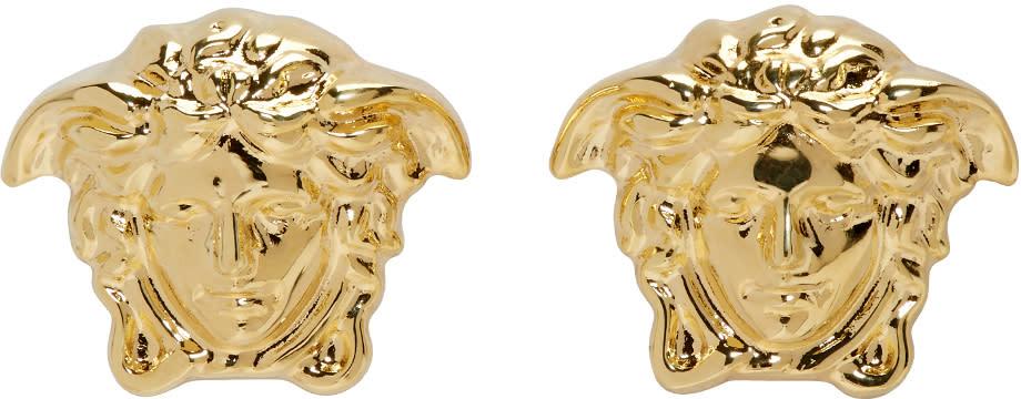 f46c0b1ba489 Versace Gold Small Medusa Earrings