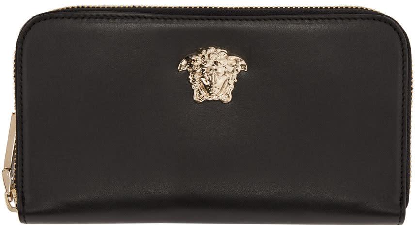f6f5b4bd2b Versace Black Medusa Continental Wallet