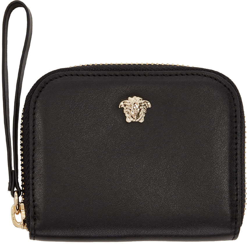 Versace Black Medusa Compact Zip Around Wallet 52a232d9bf