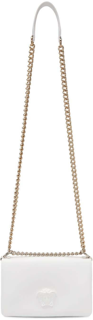 568bb4e3cd0 Versace White Small Palazzo Sultan Chain Bag