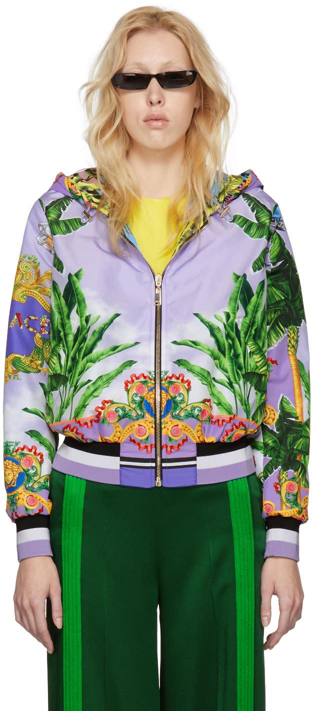 6d5ee9b5e Versace Reversible Multicolor Hooded Bomber Jacket