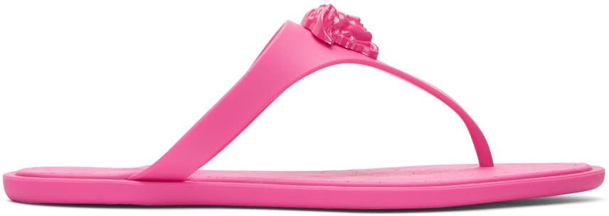 Versace Pink Medusa Sandals