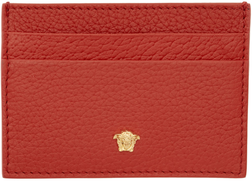 35146816ad Versace Red Small Medusa Card Holder