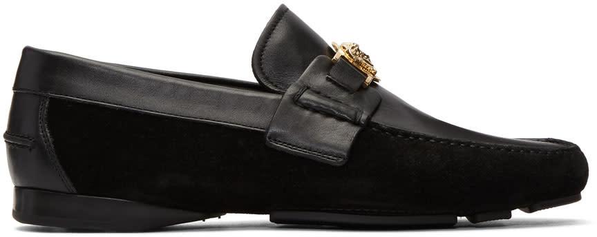 Versace Black Medusa Loafers