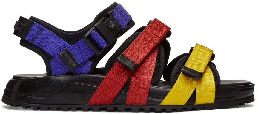 Versace Multicolor Strap Sandals