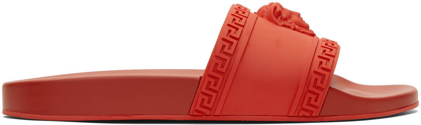 Versace Red Medusa Pool Slides