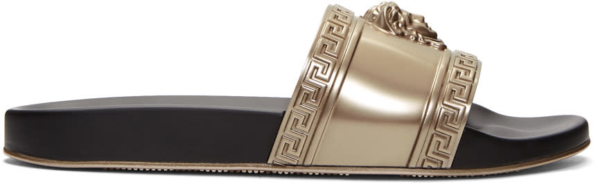 Versace Gold Medusa Pool Slides
