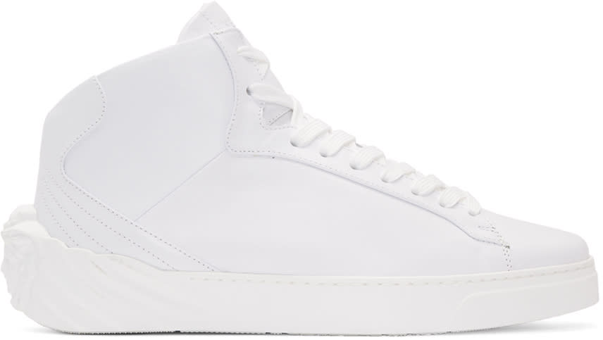 Versace White Back Medusa Head High-top Sneakers