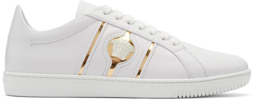 Versace White Medusa Head Sneakers