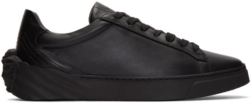 Versace Black Back Medusa Head Sneakers