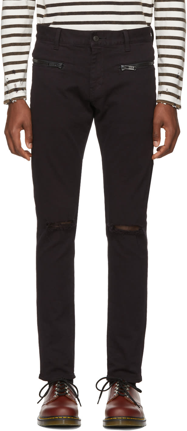 Undercover Black Distressed Skinny Jeans