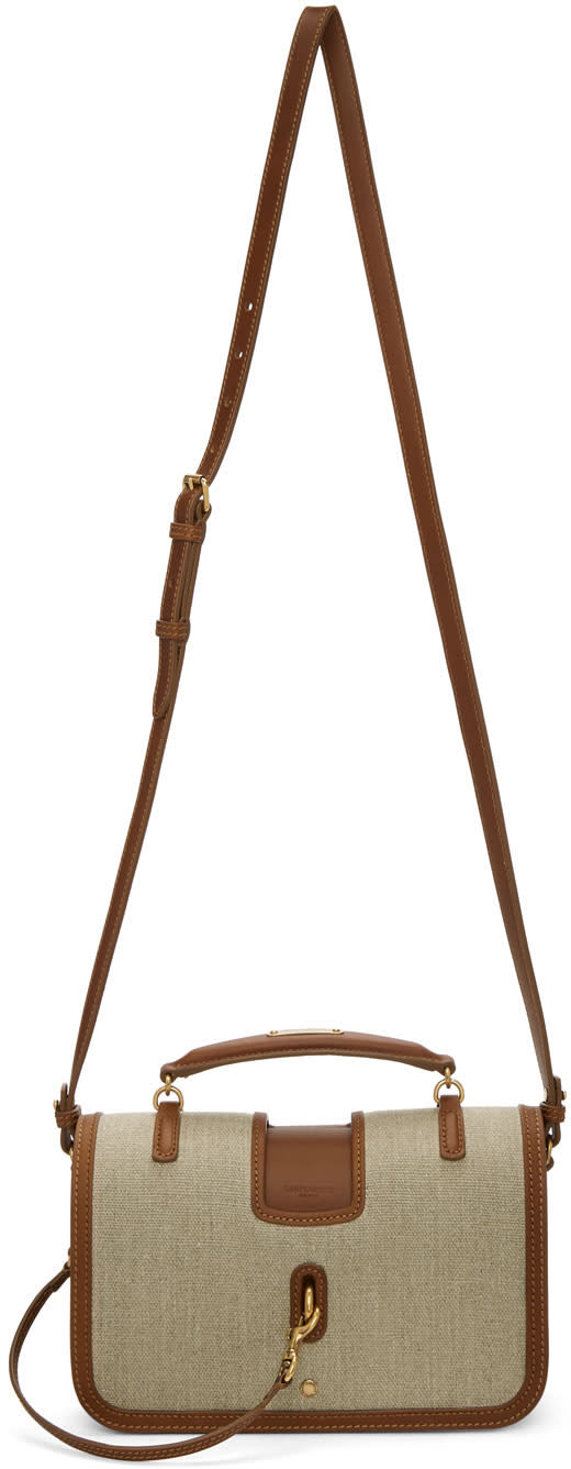 Image of Saint Laurent Beige and Brown Medium Charlotte Messenger Bag