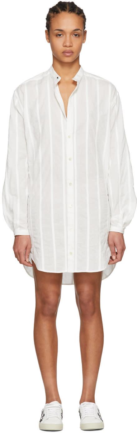 Saint Laurent ホワイト オーバーサイズ シャツ ドレス