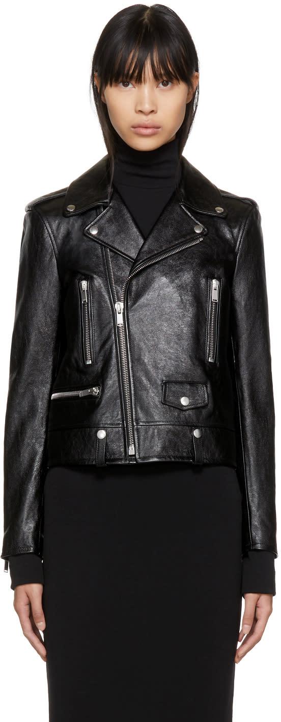 cefbbdc86d Saint Laurent Black Classic Leather Motorcycle Jacket