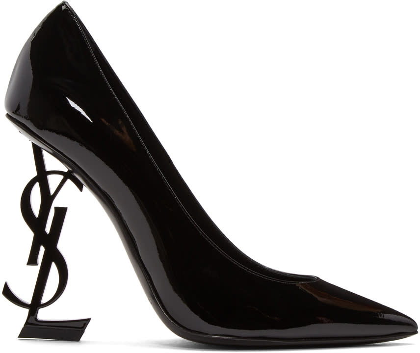 Saint-Laurent-Black-Patent-Opyum-Heels