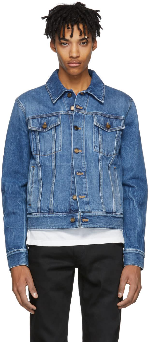 216dc7a6 Saint Laurent Blue Denim Shadow Jacket