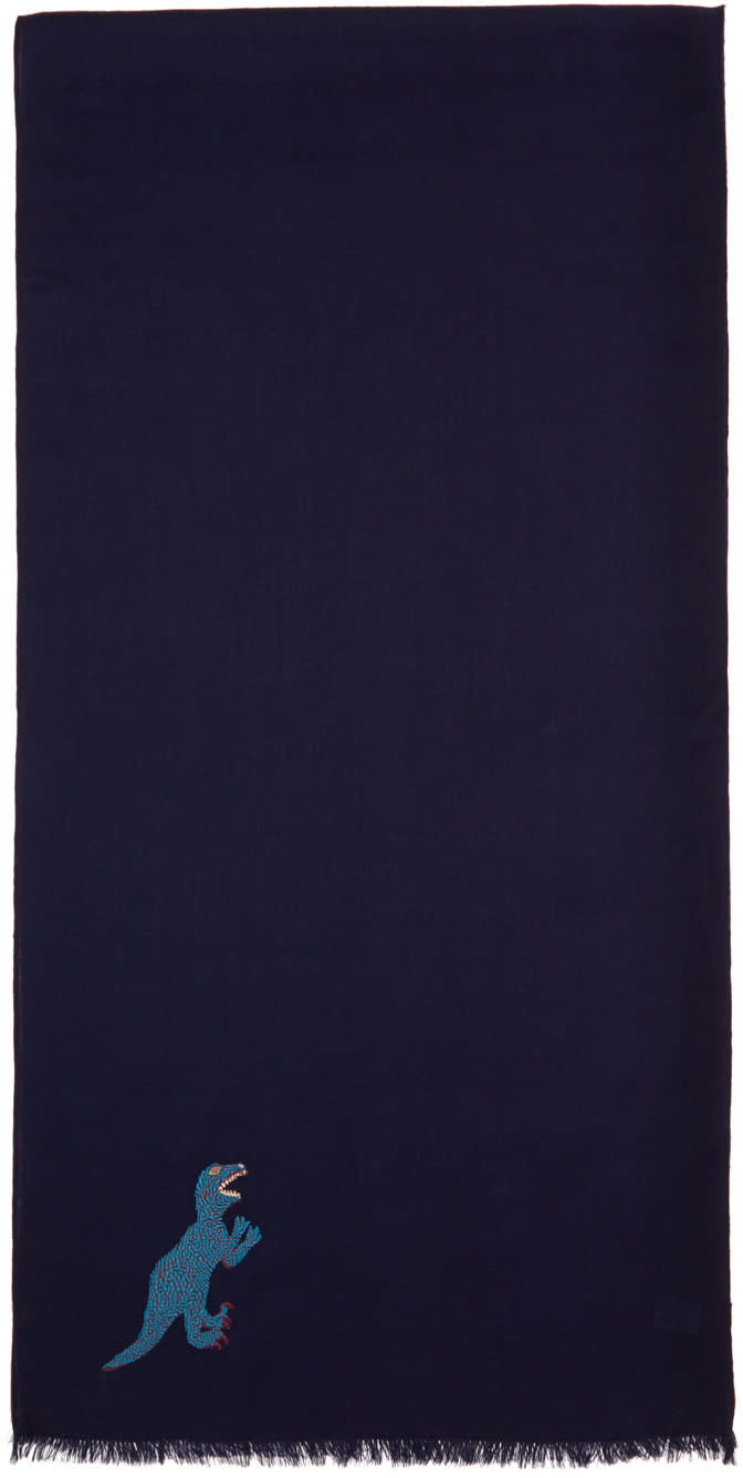 Ps By Paul Smith Navy Dino Scarf